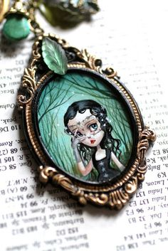 The Night Gypsy - original cameo by Mab Graves by mab graves, via Flickr