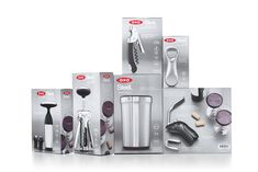 Refine Your Bartending Skills At Home With These Sleek Products From OXO Cool Packaging, Brand Packaging, Packaging Boxes, Design Awards, Design Trends, Wooden Fruit Bowl, Colors And Emotions, Appliance Packages, New York