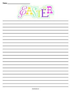 Easter Lined Paper