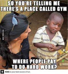 No beef with the gyms! Just thought this was funny