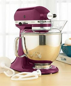 this is the most magnificent thing i have ever laid my eyes on. boysenberry kitchenaid mixer