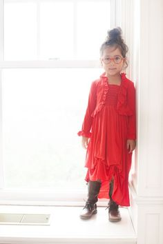 Jersey Infinity Dress for Girls.