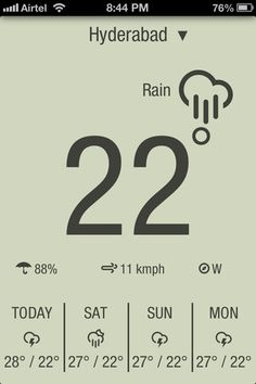 Another great weather app with different themes to choose from. Find out more: weatherneue.com