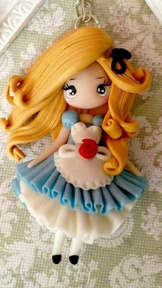 Alice in wonderland necklace clay