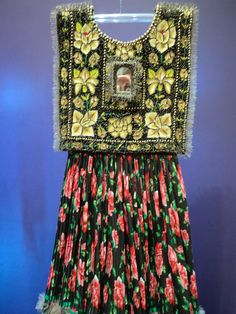 Frida's dress from the exhibit at her Blue House in Coyoacan, MX.