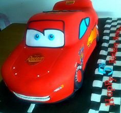 lightning macqueen cars cake for my son