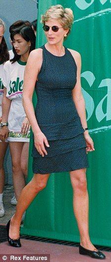 April 23, 1995: Diana, Princess of Wales at the Salem Tennis Final in Hong Kong.