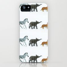 ZEBRA, ELEPHANT, TIGER iPhone & iPod Case by Miles of Light - $35.00