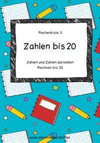 Zählen und Zahlen darstellen bis 20 - Rechnen im ZR 20