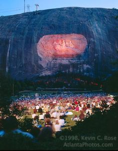 A Classic Stone Mountain Laser Show