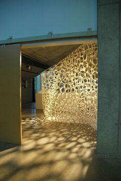 """C"" Wall, Banvard Gallery, Knowlton School of Architecture 私にとっては気持ち悪いの一歩手前です new age minimal organic avant garde"