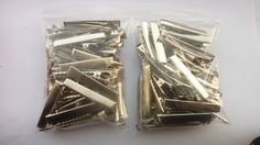 Bulk buy 100 metal crocodile clips/alligator clips by Youaresocute on Etsy