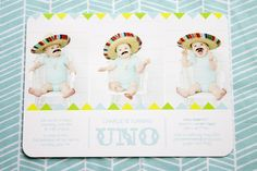 """We had an outdoor fiesta first birthday party to celebrate our son turning """"uno""""! It was a fun celebration with many DIY touches. Twin First Birthday, First Birthday Photos, Baby Birthday, Birthday Cakes, First Birthday Invitations, Boy Birthday Parties, Birthday Ideas, Fiesta Party, First Birthdays"""