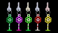 How To Make A Crystal Beads Keychain At Home