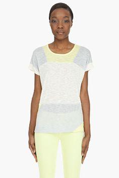 marc by marc jacobs beige tanya colorblock jersey for women - Color Block Vetement