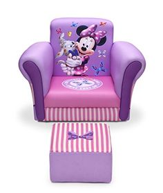 Delta Children Upholstered Chair with Ottoman, Disney Minnie Mouse  http://www.furnituressale.com/delta-children-upholstered-chair-with-ottoman-disney-minnie-mouse/
