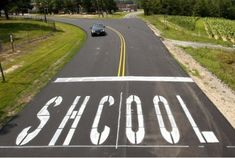 """SHCOOL"" = that place the Dept. of Transportation workers apparently dropped out of before graduating. :-)"