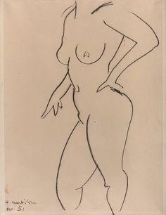 Henri Matisse - Standing Nude, 1951