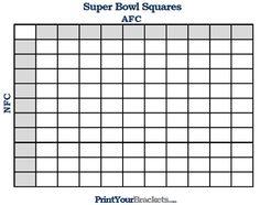 Blank Football Pool Template 100 Square Football Pool Sheet