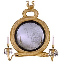 A Regency Giltwood Convex Mirror (4491511) | From a unique collection of antique and modern convex mirrors at http://www.1stdibs.com/furniture/mirrors/convex-mirrors/