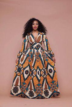 African Print Tsinga Maxi Dress