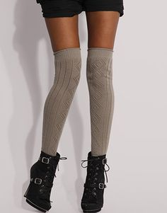 yes people, knee high socks are coming back! Also, love the shoes