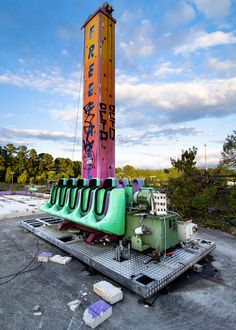 Abandoned amusement park ride,Brandon Edwards