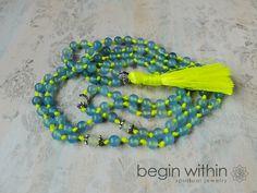 Joy & Happiness • Neon Mala Beads by BeginWithinJewelry