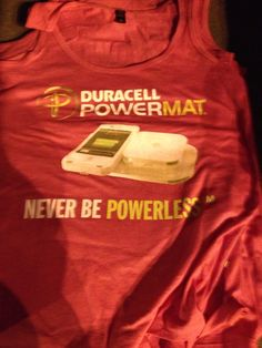 T-shirt I did for Duracell for the ladies.