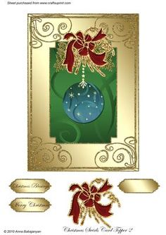 Christmas Swirls Card Topper 2 - CUP149824_96 | Craftsuprint