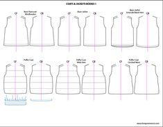 Kids Illustrator Flat Fashion Sketch Templates: #coats - 850+ mix & match childrenswear design templates only $24.95! #kidswear #childrenswear #flatsketches #fashionflats #fashionsketches #fashiontemplates #fashionCADs