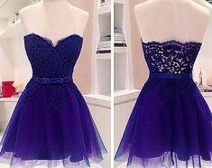 Royal blue prom dresses,Custom prom dress,A Line prom dresses,Short prom… Royal Blue Prom Dresses, Lace Homecoming Dresses, Prom Dresses 2016, Dresses Short, Tulle Prom Dress, Cheap Prom Dresses, Blue Dresses, Lace Dress, Dress Up