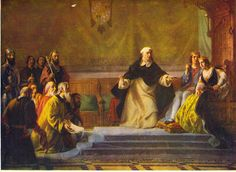 After Spain drove out the Moors, the Dominican friar Torquemada insisted on the expulsion of the Jews. He won his case before King Ferdinand and Queen Isabella.