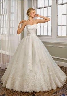 QueUsar.com: Vestido de Novia Strapless Estilo Princesa