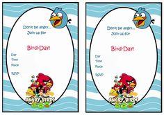 Angry Birds FREE Printable Birthday Party Invitations