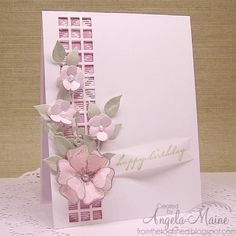 SC491 Pink Birthday by Arizona Maine - Cards and Paper Crafts at Splitcoaststampers