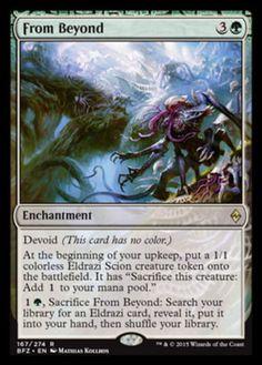 From Beyond Magic the Gathering mtg Battle for Zendikar card rare green