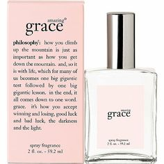 Philosophy - Amazing Grace Spray Fragrance.  I love the Amazing Grace scent! So fresh and clean.