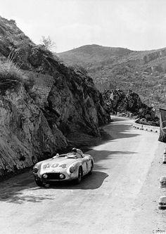 Targa Florio, 1955, Peter Collins & Stirling Moss, Mercedes 300 SLR