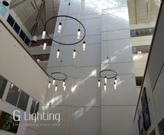 Installation shot of G Lighting #Custom fixtures at Rush University Medical Center in Chicago. #lighting #design
