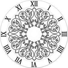 """Image result for creative arts lifestyle d'anjou clock stencil - 6"""""""