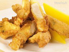 """Kuracie """"strips"""" vpivnom cestíčku No Salt Recipes, Snack Recipes, Turkey Recipes, Chicken Recipes, Russian Recipes, Chicken Wings, Ham, Polish, Dinner"""