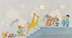 Reproduction of Tove Jansson's mural at Design Museum in Finland - Moomin : Moomin