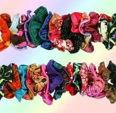 Scrunchies-The fashion back then.