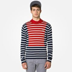 Lacoste Live striped wool sweater