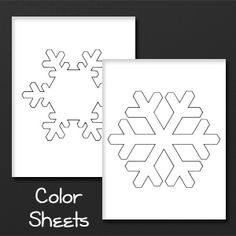 Snowflake Color Sheet Printables