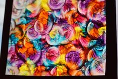 stained glass paintings with waxed paper and a bottle lid