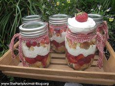 Strawberry Shortcake in Mason Jar