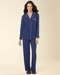Embraceable Pajama Pant and shirt Medievel Blue - Soma size small