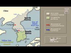 KOREAN WAR HISTORY ANIMATION ON A MAP